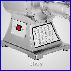 1.5HP Commercial Meat Grinder Sausage Stuffer With2 plates 2 Knives 450lbs/h