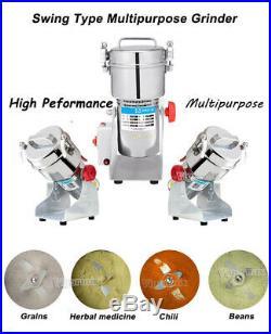 1.5LB Electric Grains Herbal Powder Maker Dry Food Grinder Crusher Blender 2500W