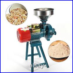 110V Electric Mill Grinder Cereals Corn Grain Coffee Dry Wheat Feed +Funnel