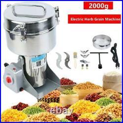 2000G Electric Herb Grinder Grain Cereal Wheat Powder Flour Grinding Machine