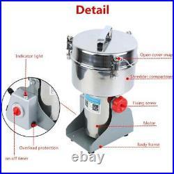 2000g High Speed Electric Herb Grain Grinder Cereal Mill Flour Powder Machine