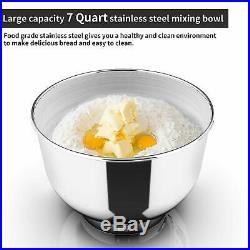 3 in 1 Tilt-Head Stand Mixer 7QT Bowl 6 Speeds 850W Meat Grinder Blender White