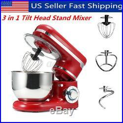 3 in 1 Tilt-Head Stand Mixer with 4.2QT Bowl 6 Speeds 1200W Meat Grinder Blender