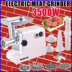 3500w Large Commercial Electric Meat Grinder Sausage Maker Mincer Stuffer