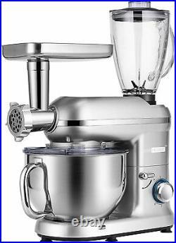 3in1 6Qt Food Stand Mixer 650W 6-Speed Meat Grinder Juice Blender ETL Certified