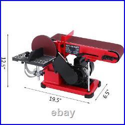 4 x 36 Belt Sander, 6 Disc Combo Sander 375W Grinder Bench Sanding Machine