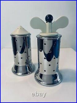 Alessi Graves Pepper Grinder & Salt Castor in Cream Michael Graves