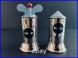Alessi New Graves Pepper Grinder + Salt Castor with Blue Accessories Bundle
