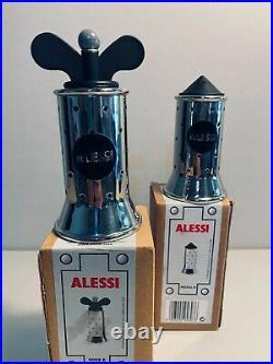 Alessi Set Graves Pepper Grinder & Salt Castor in Black