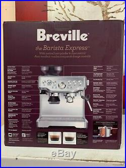 Breville BES870XL Barista Express Automatic Espresso Machine Grinder New