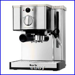 Breville Cafe Roma Espresso Machine Maker Stainless Steel w Shardor Burr Grinder