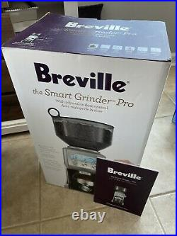 Breville Smart Grinder Pro BCG820BSS Electric Coffee Grinder Silver