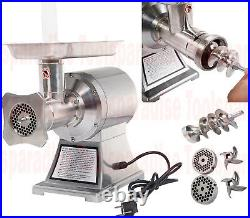 COMMERCIAL Restaurant Heavy Duty ELECTRIC MEAT GRINDER Stainless Steel Body HD