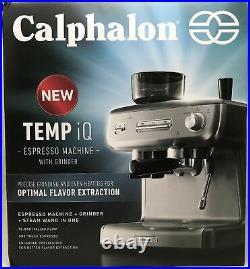 Calphalon Temp iQ Espresso Machine with Grinder and Steam Wand (1076)