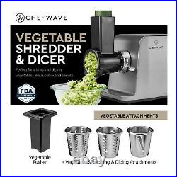 ChefWave Electric Meat Grinder 1800W for Grinding, Stuffing, Slicing and Juicing