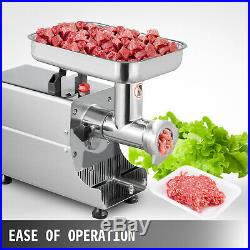 Commercial 75kg/h Steel Meat Grinder 2 Knifes High-performance Durability Mincer