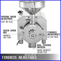 Commercial Electric Grain Mill Grinder 2.2KW Grinding Machine 50KG Powder Mill