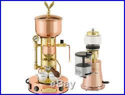 Elektra Semiautomatica Microcasa Machine+Grinder MS Italian Espresso Set 110V