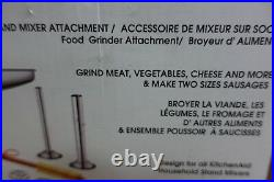 Food Grinder Attachment for KitchenAid Stand Mixers Including Sausage Stuff W27