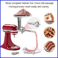 For KitchenAid Cuisinart Mixer Meat Grinder/Pasta Roller Cutter Maker Attachment