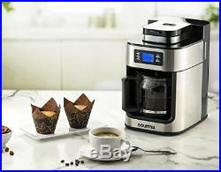 Gourmia GCMW4750 WIFI Stainless Steel Coffee Maker With Built-in Grinder