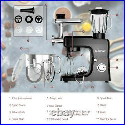 Heavy Duty Electric Meat Grinder Kitchen Mixer Blender Commercial 6 Speed Black
