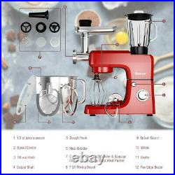 Heavy Duty Electric Meat Grinder Kitchen Mixer Blender Commercial Red 6 Speeds