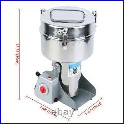 High Speed 2000g Electric Herb Grain Grinder Cereal Mill Flour Powder Machine US