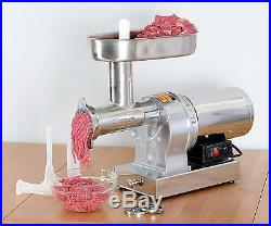 Kitchener #8 Commercial Grade Electric Stainless Steel Meat Grinder 1/2 HP