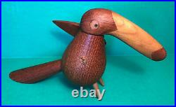 MCM Danish Modern Teak Toucan Bird Pepper Mill Grinder DANWOOD DENMARK AS IS