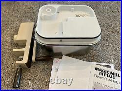 Magic Mill III Plus Electric Wheat/Grain Flour Grinder & Hand Crank Handi-Magic