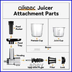 Meat Grinder & Juice Attachment For Kitchenaid JE Citrus Juicing Stand Mixer