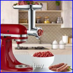 Meat Grinder Slicer Shredder Citrus Juicer Attachment For KitchenAid Stand Mixer