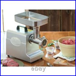 Mighty Bite #8 Electric Meat Grinder with 3 Stuffing Tubes and Meat Stomper