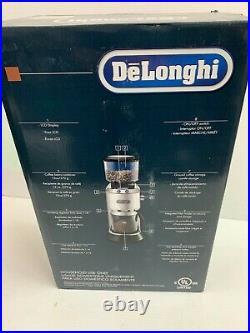 NEW DeLonghi Dedica Coffee Conical Burr Grinder KG521M KG 521. M Stainless steel