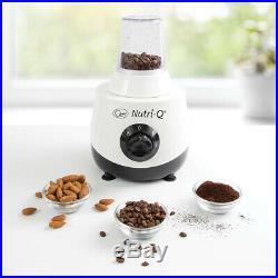 Nutri-Q Food Processor Coffee Grinder Blender Slices Shreds Grates Crushes Whip