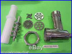 ORIGINAL STAINLESS STEEL Meat Grinder for Kitchenaid Mixer by Smokehouse Chef