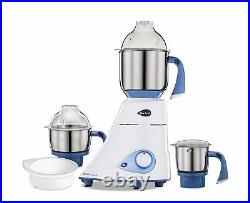 Preethi Mixie Mixer Grinder With 3 Jars Stainless steel 750 Watt Blue Free Ship