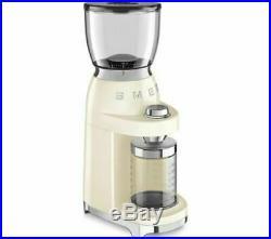 Smeg CGF01CRUK 50's Style Retro Cream Coffee Grinder + 2 Year Warranty (New)