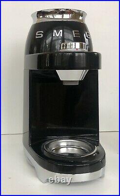 Smeg Retro Style Coffee Grinder Black Electric CGF01