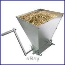 Stainless 2 Roller Barley Malt Mill Adjustable Homebrew Grain Grinder Crusher