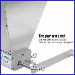 Stainless Steel 2-roller Barley Malt Mill Grain Grinder Crusher For Homebrew New