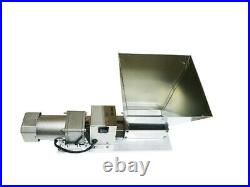 TECHTONGDA Manual Electric Roller Stainless Steel Grinder Adjustable Grain Mill