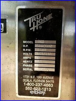 Tru-Hone HG3 Hollow Grinder / Sharpner Heavy Commercial 1HP 3 Phase