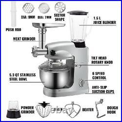 VEVOR 4 in 1 Stand Mixer 1000W Multifunctional Meat Grinder Juice Blender 5.3QT