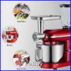 VIVOHOME 3 In 1 Tilt-Head 6 QT Stand Mixer Meat Grinder Blender Food Processor