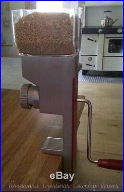 Victorio DELUXE HAND CRANK GRAIN Food MILL Grinder Stainless Steel Large VKP1024