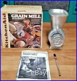 Vintage KitchenAid Hobart Grain Mill Coffee Grinder Model GM NOS NIB RARE