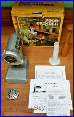 Vintage KitchenAid Hobart Meat Grinder & Sausage Stuffer- FG Metal Rare, NOS NIB