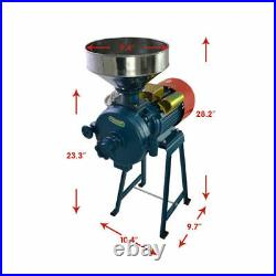 Wet & Dry 220V 1400r/min Electric Feed/Flour Mill Cereals Grinder Grain Corn